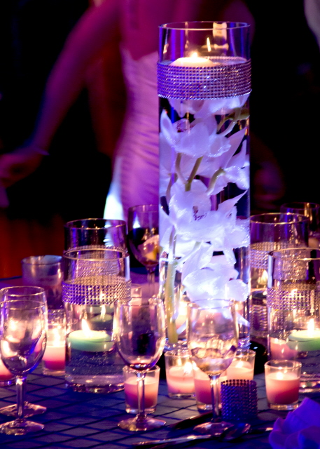 Bling Glass Vase Centerpieces