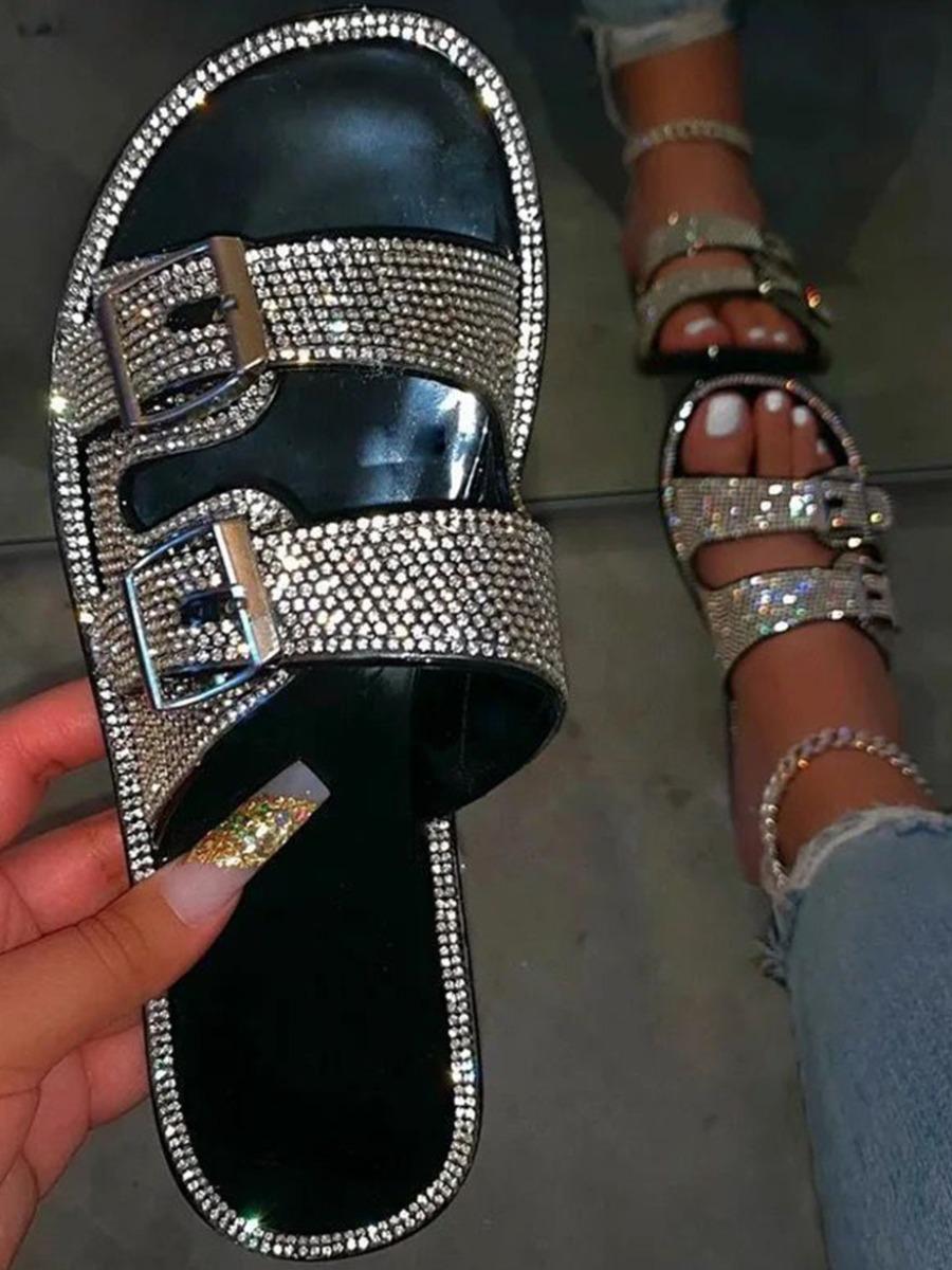 Bling strap sandal