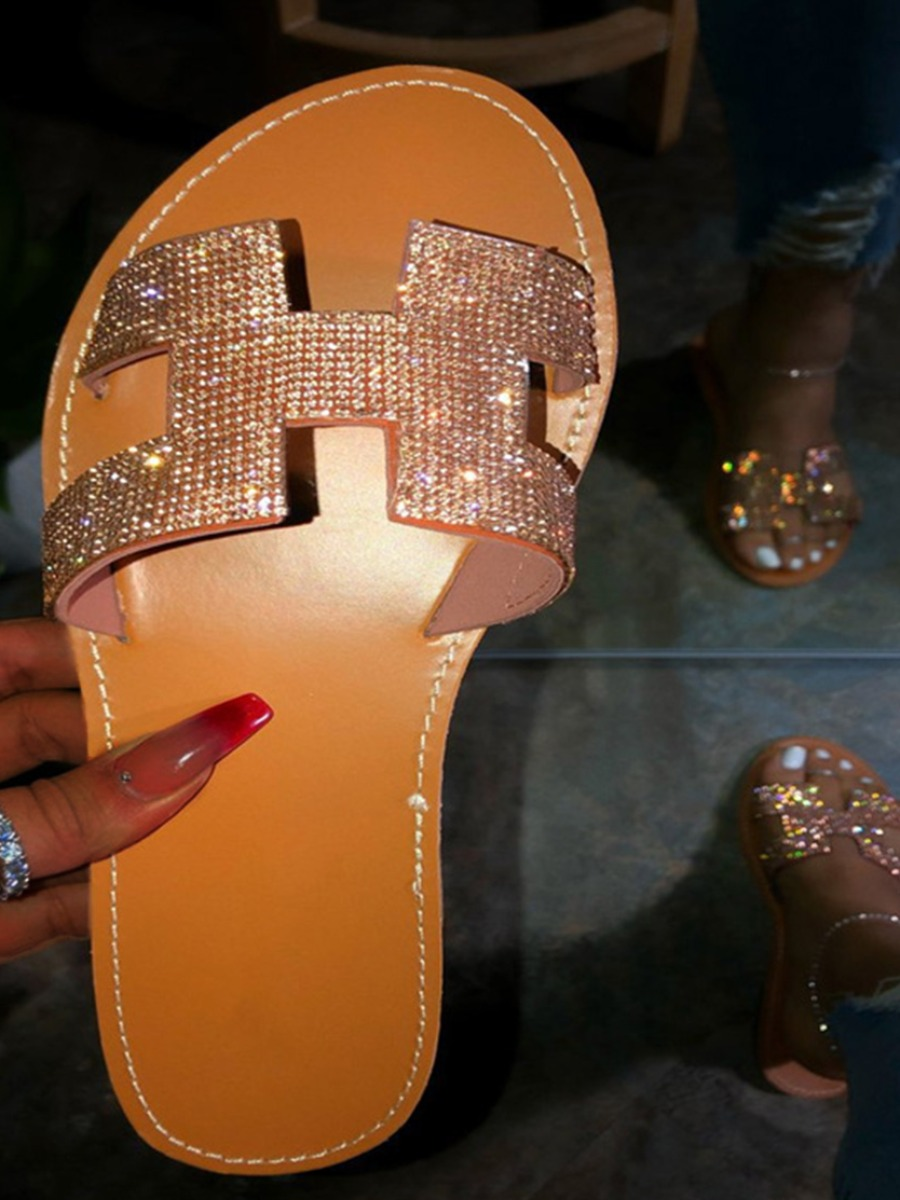H bling sandals