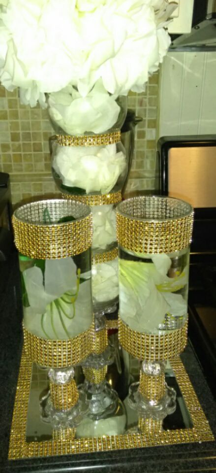 Gold Bling CenterPieces