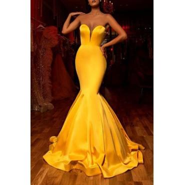 Yellow Evening dress