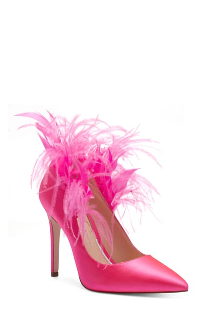 Pink feather heel