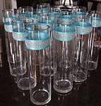 Tiffany Blue Bling Glass Vases