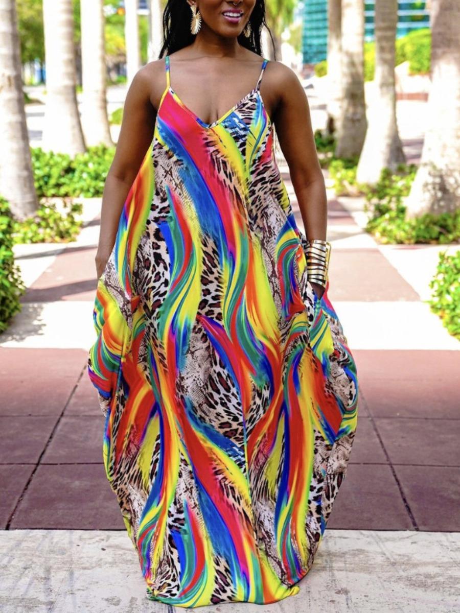 Colorful Print dress