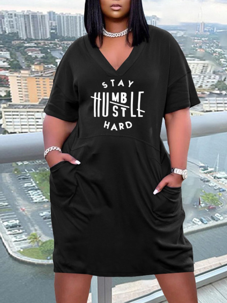 Stay humble casual Dress