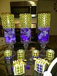 gold bling glass vase centerpieces