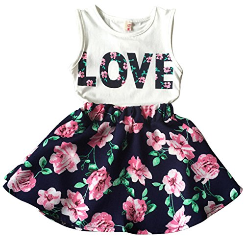 Love flower toddler dress