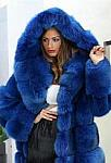 Women Blue Fur Jacket