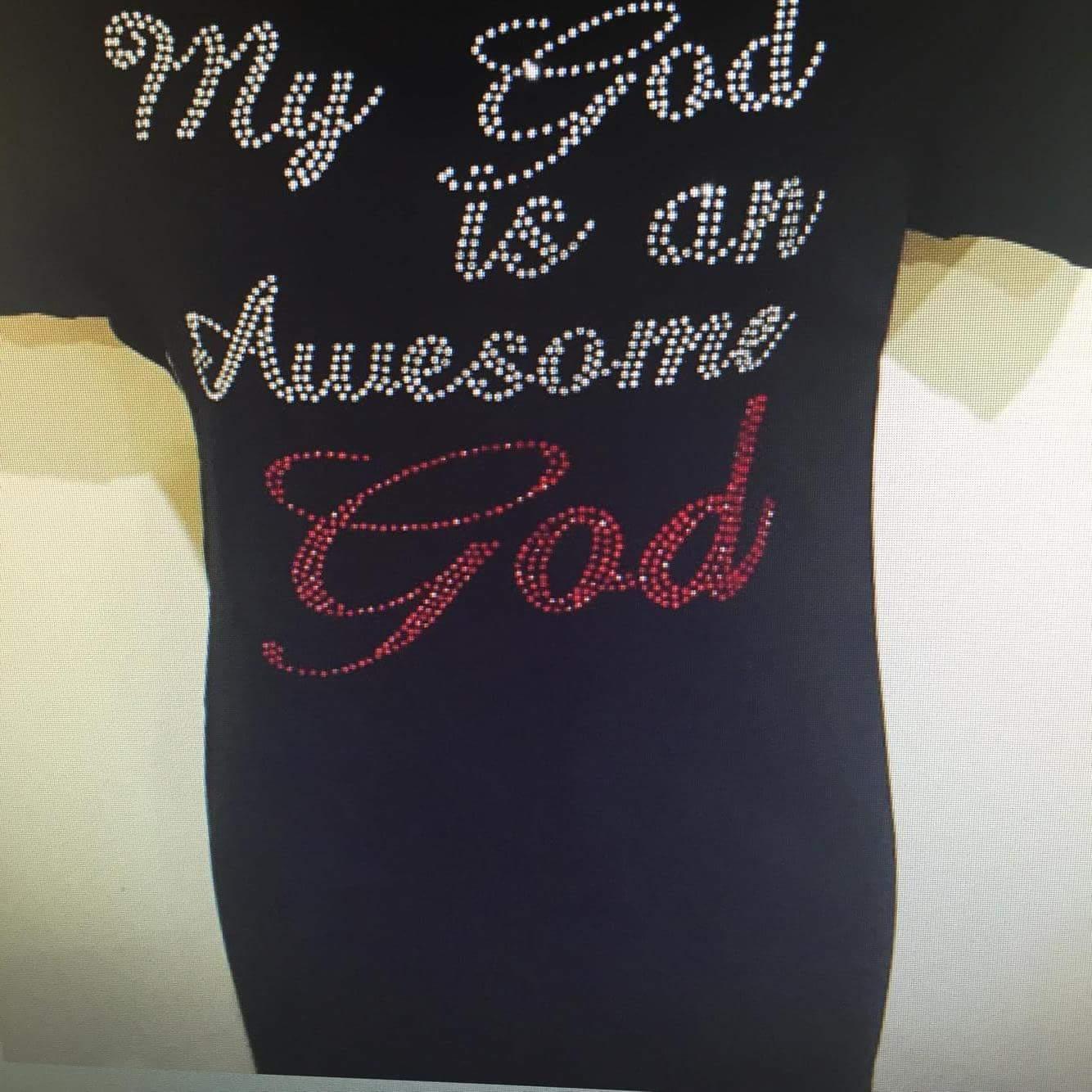 Awesome God Rhinestone Tee