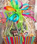 Colorful Birthday Gift Basket