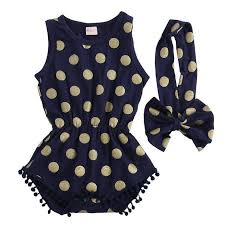 Toddler polka dot romper