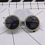 Round Gold Women Sun Glasses