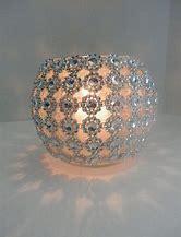 Rhinestone Silver Glass Round Vase