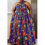 African Plus Size Dress
