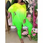 Tie Dye Lime Green Pants Set